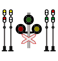 railway traffic vector image