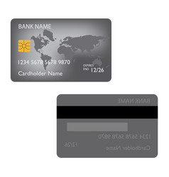 realistic detailed credit cardsset with colorful vector image