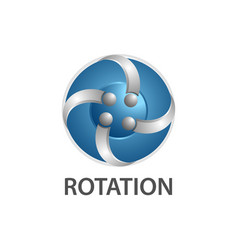 rotation comet logo concept design symbol graphic vector image
