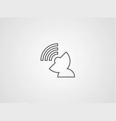 satellite icon sign symbol vector image