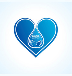 save nature concept - world water day vector image