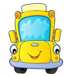 School bus thematics image 4 vector