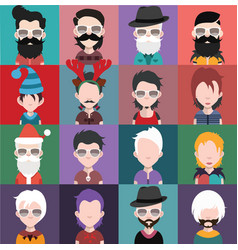 Set of avatars a vector