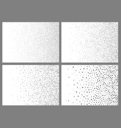 Set of gradient halftone dots backgrounds vector
