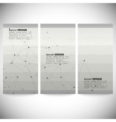 Set of vertical banners Abstract gray background vector image
