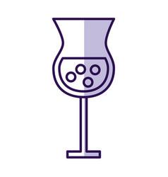 Shadow alcohol cup cartoon vector