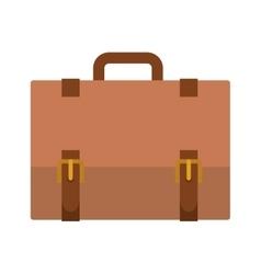 silhouette closeup with Executive briefcase vector image