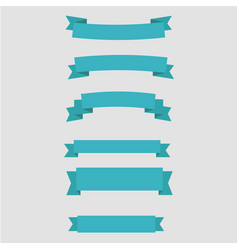 Simple ribbons set vector