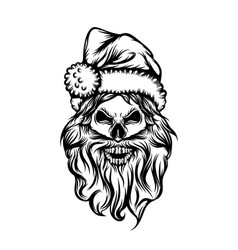 skull with long beard and use vector image
