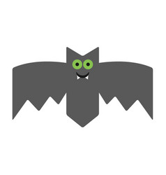 Smiling cheerful bat emotional vampire the vector