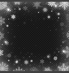 snowflakes frame winter snowed border frost vector image