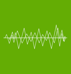 sound wave icon green vector image