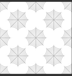 spider web icon seamless pattern cobweb sign vector image
