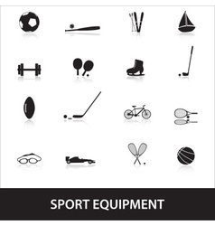 Sport equipment eps10 vector
