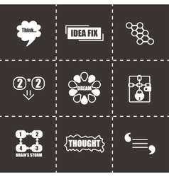 Thought icon set vector image