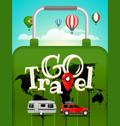 Travel vacation travelling concept vector