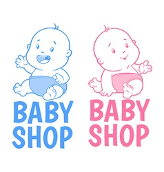 Two baby shop logo Isolated on a white background vector