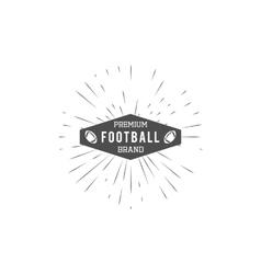 vintage american football and ruglabel emblem vector image