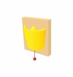 Wall lamp icon cartoon style vector