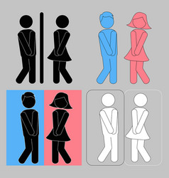 wc sign boy and girl toilet icons vector image
