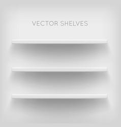 white shelves on white background vector image