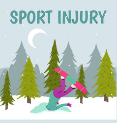 Winter sports damage background vector