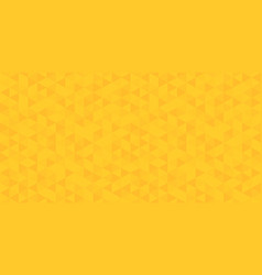 yellow polygon bacground design template vector image