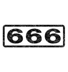 666 watermark stamp vector image
