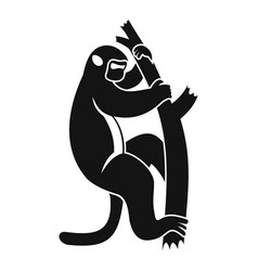 Macaque on a tree icon simple style vector