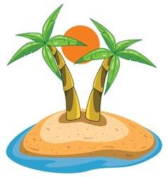 palms on island vector image