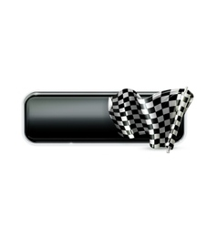 Racing banner flag vector image vector image