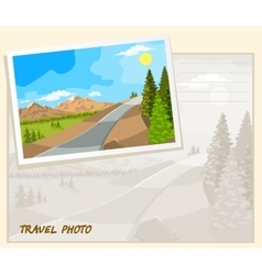 travel photo template vector image vector image