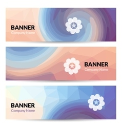 Abstract banners set design template vector image vector image