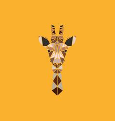 abstract polygonal triangle giraffe vector image vector image