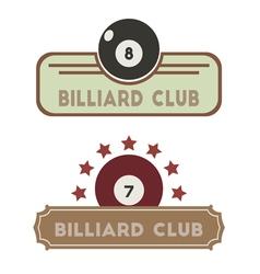 Billiard Club vector image vector image