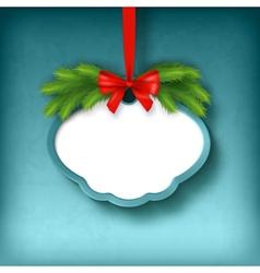 Christmas Greeting Frame Card vector image vector image