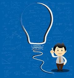 Concept light bulb symbol of renewable vector image vector image
