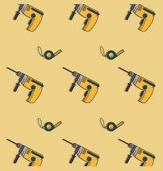 construction tools background vector image vector image