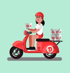 delivery sketch girl vector image