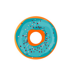 donut delicious with sprinkles isolated on white vector image