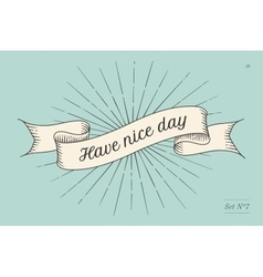 Greeting card with inscription Have nice day vector image