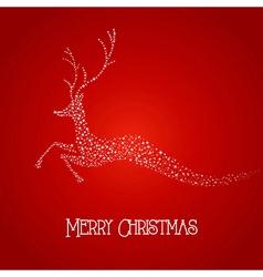 Merry Christmas deer star shape vector image vector image
