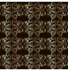 Vintage seamless pattern with golden curls in vector image vector image