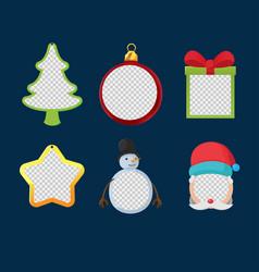 christmas object design frame set vector image vector image