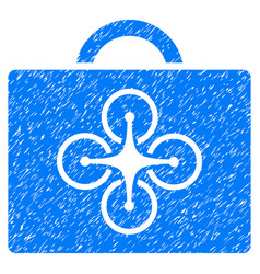 drone case grunge icon vector image