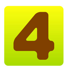 number 4 sign design template element vector image