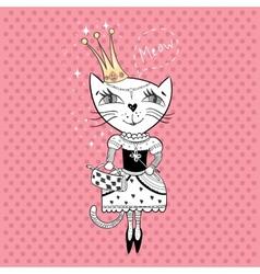 Royal cat vector image