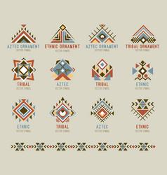 tribal native pattern set vector image vector image