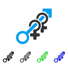 harem flat icon vector image vector image