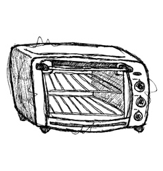 scribble series - oven vector image